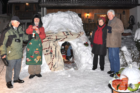 Iglu-Party bei Lindstedts in Kalchreuth